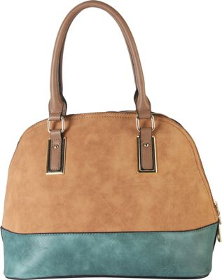 Diophy Two-tone Shell Tote with Removable Straps Light Brown - Diophy Manmade Handbags