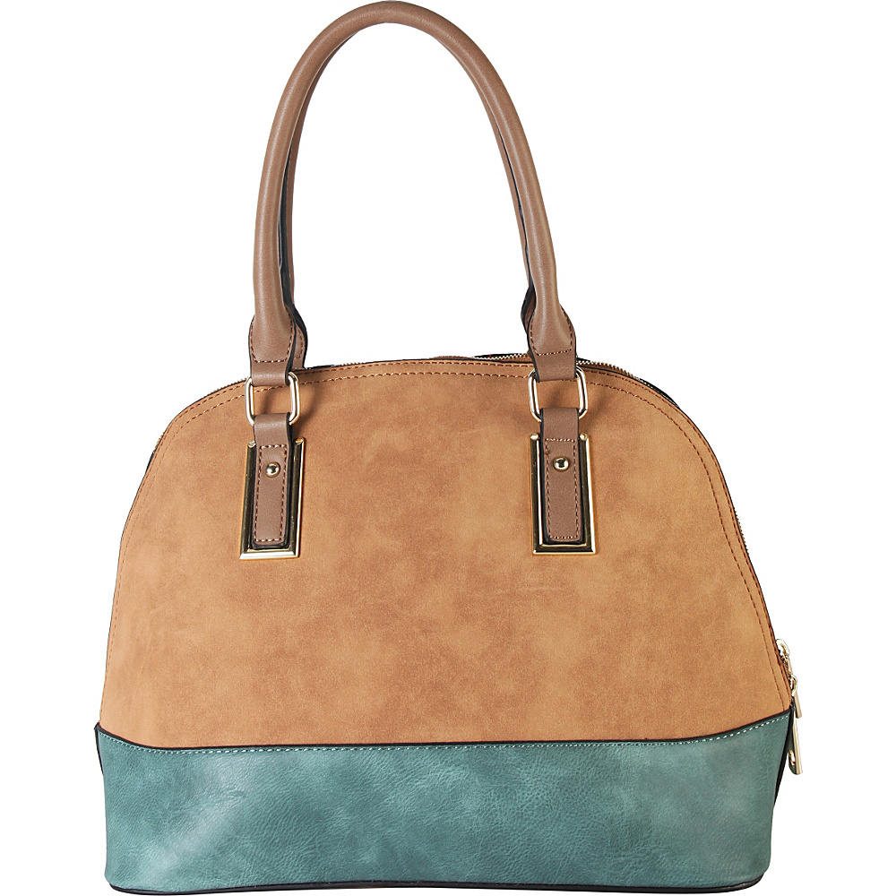 Diophy Two tone Shell Tote with Removable Straps Light Brown Diophy Manmade Handbags