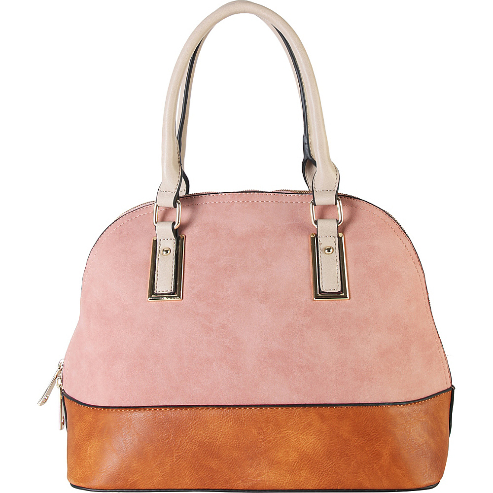 Diophy Two tone Shell Tote with Removable Straps Pink Diophy Manmade Handbags