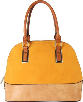 Diophy Two-tone Shell Tote with Removable Straps Yellow - Diophy Manmade Handbags