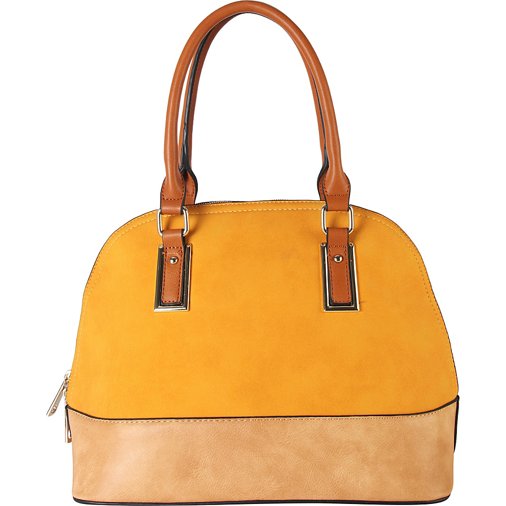 Diophy Two tone Shell Tote with Removable Straps Yellow Diophy Manmade Handbags