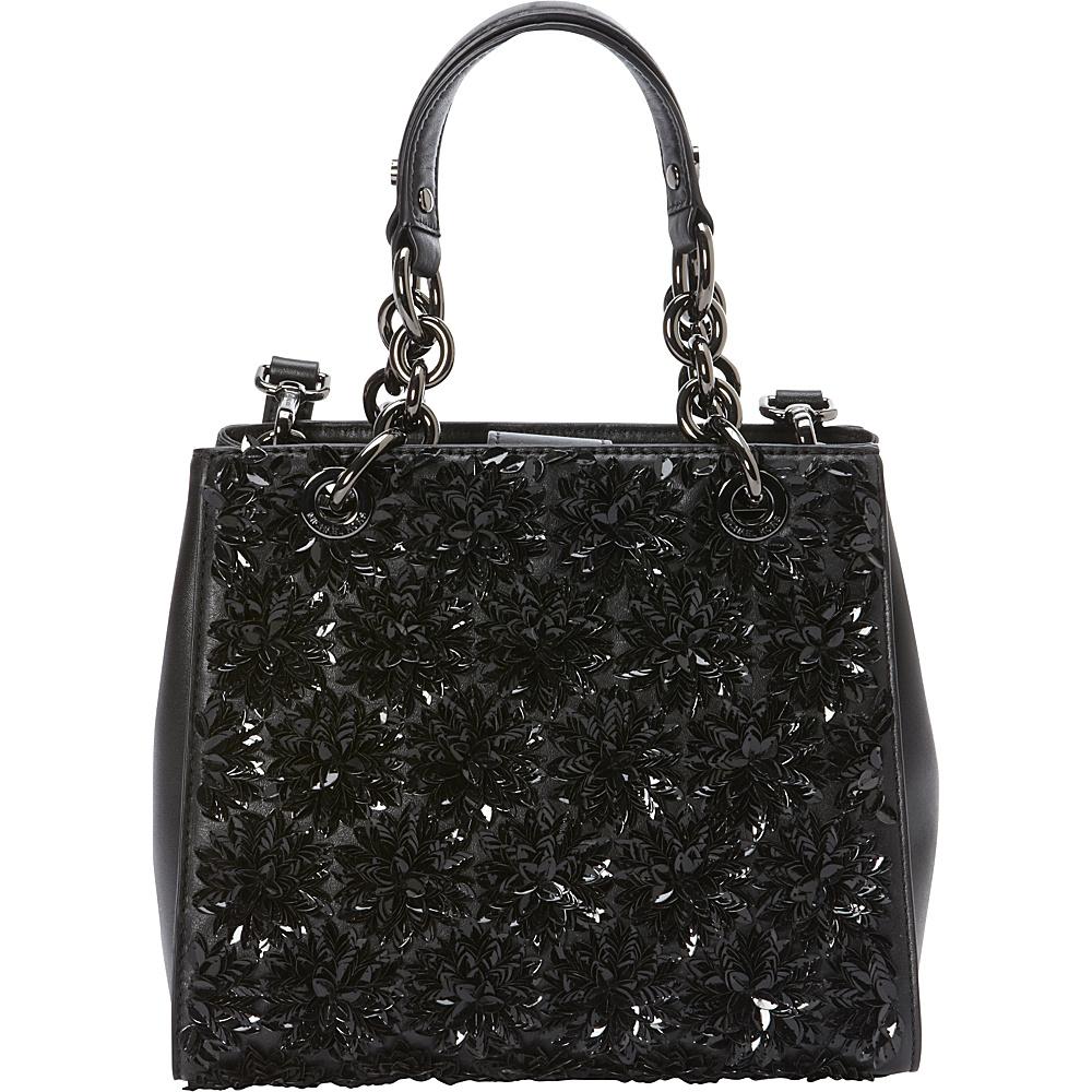 MICHAEL Michael Kors Flora Burst Small Satchel Black MICHAEL Michael Kors Designer Handbags