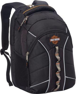Harley Davidson by Athalon Harley Davidson Laptop Backpack Black - Harley Davidson by Athalon Business & Laptop Backpacks