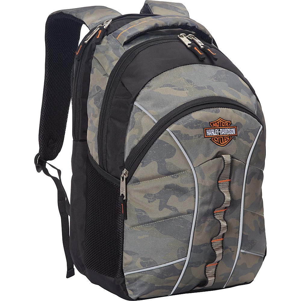 Harley Davidson by Athalon Harley Davidson Laptop Backpack Camouflage Harley Davidson by Athalon Business Laptop Backpacks