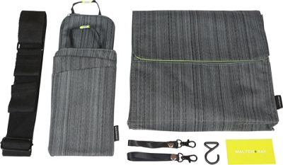 Walter + Ray In Flight Seat Organizer- TAB Messenger Suit Grey/Green - Walter + Ray Tablets