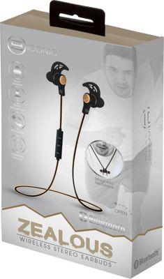 B iconic Zealous Bluetooth Earbud Necklace Gold - B iconic Headphones & Speakers