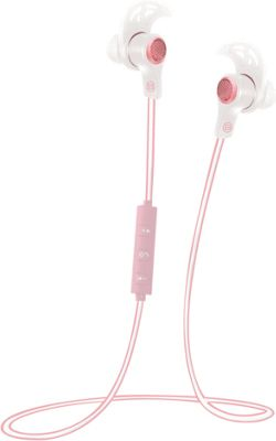 B iconic Zealous Bluetooth Earbud Necklace White/Pink - B iconic Headphones & Speakers