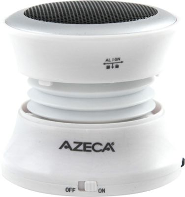 Azeca Mini Pop-Up Bluetooth Speaker White - Azeca Headphones & Speakers