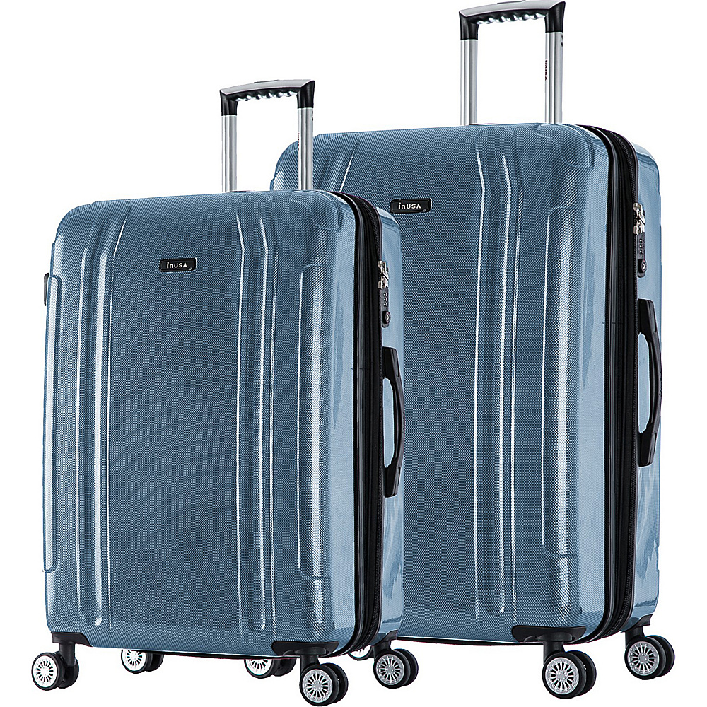 inUSA SouthWorld 23 27 2 Piece Hardside Spinner Luggage Set Blue Carbon inUSA Luggage Sets
