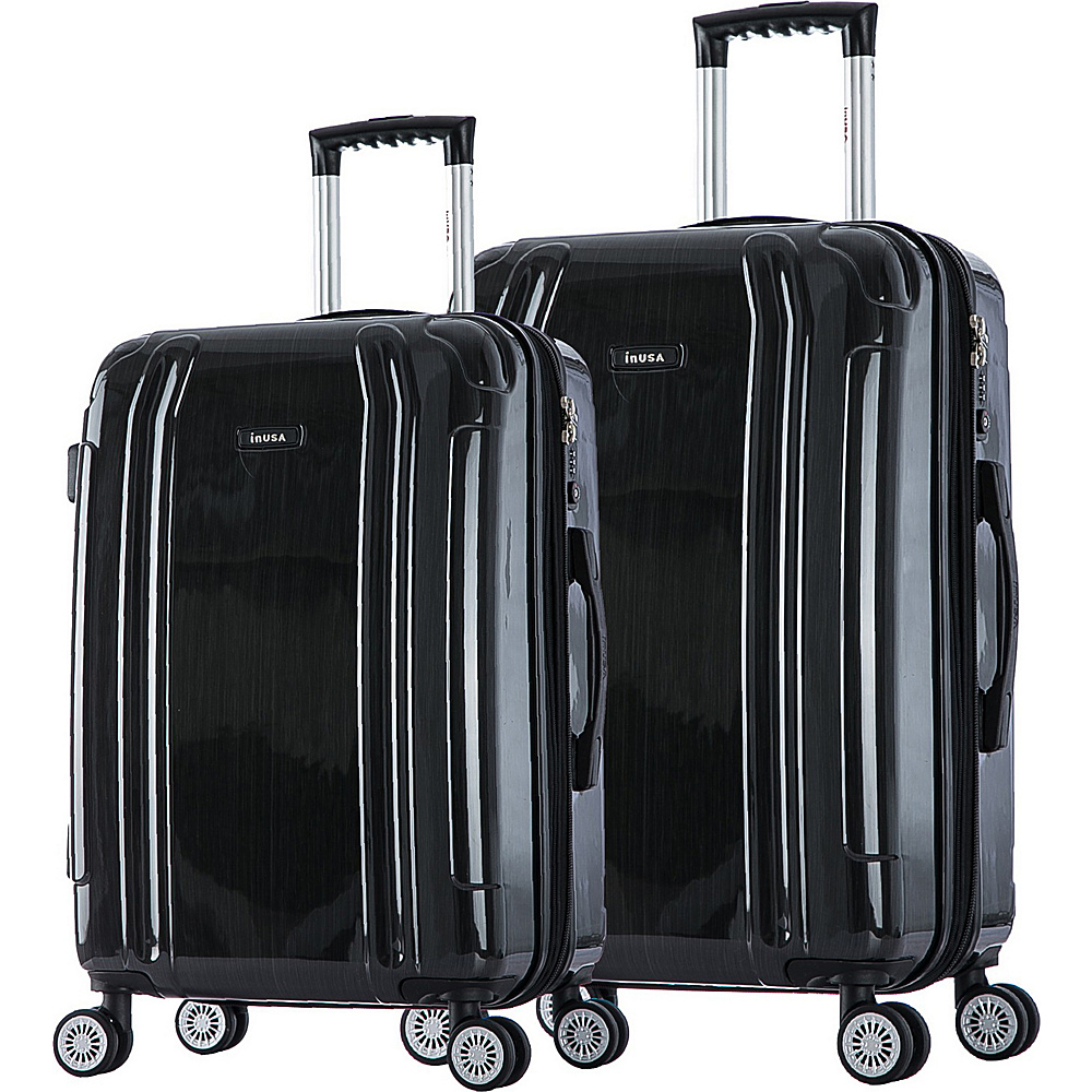 inUSA SouthWorld 23 27 2 Piece Hardside Spinner Luggage Set Dark Gray Brush inUSA Luggage Sets