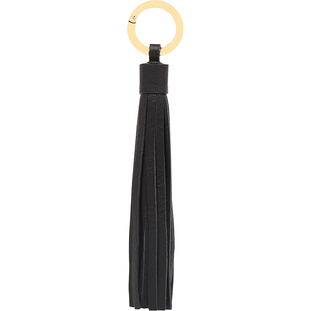 Vicenzo Leather Zita Leather Tassel Key Chain Black - Vicenzo Leather Women's SLG Other