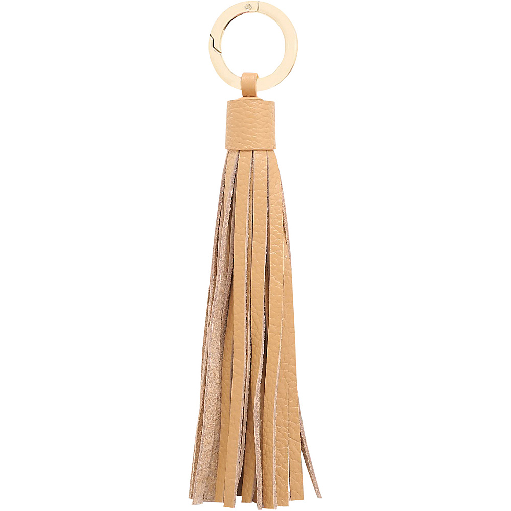 Vicenzo Leather Zita Leather Tassel Key Chain Tan - Vicenzo Leather Women's SLG Other