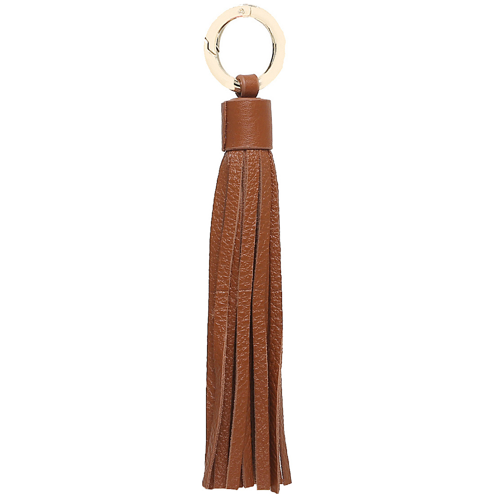 Vicenzo Leather Zita Leather Tassel Key Chain Brown - Vicenzo Leather Women's SLG Other