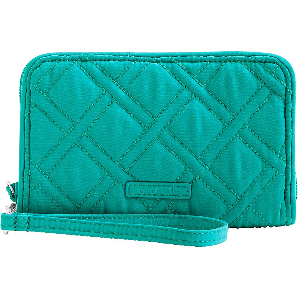 Vera Bradley RFID Grab & Go Wristlet - Solid Turquoise Sea - Vera Bradley Womens Wallets - Women's SLG, Women's Wallets