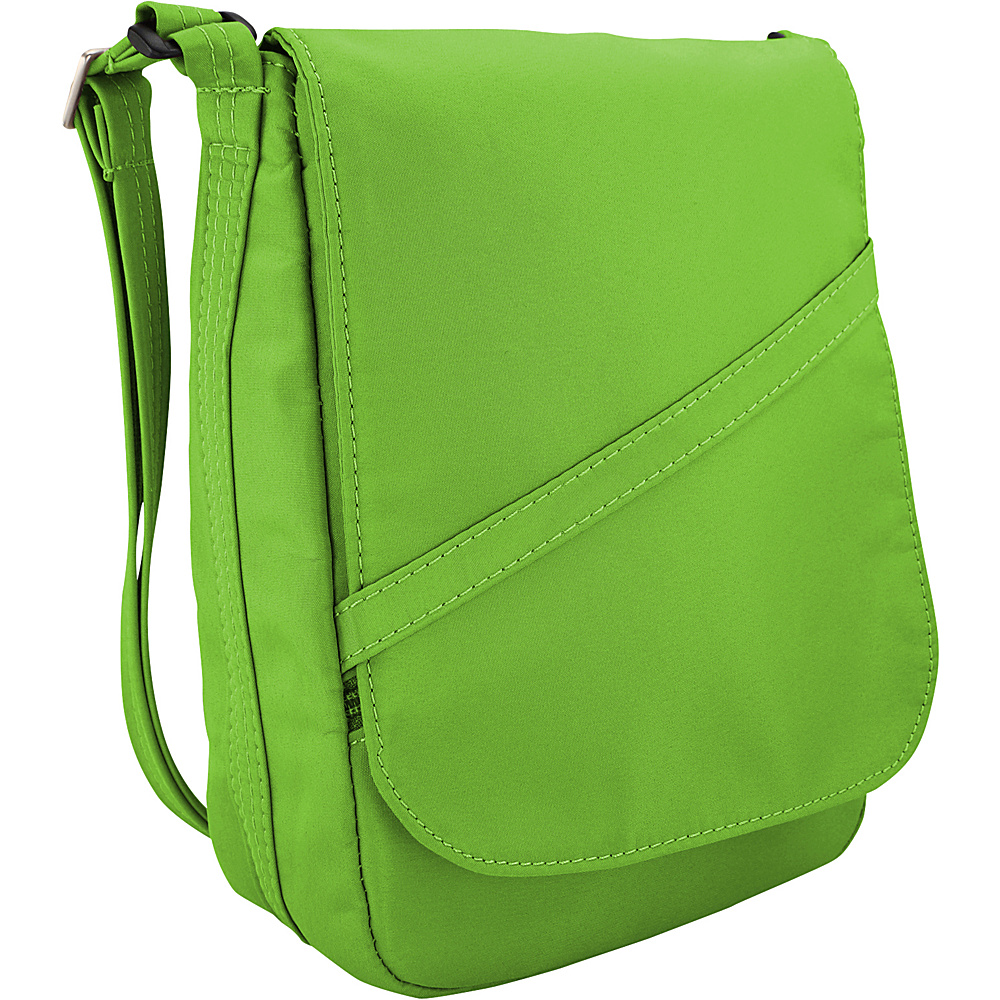 BeSafe by DayMakers Anti Theft Medium U Shape with Flap Shoulder Bag Bright Green BeSafe by DayMakers Fabric Handbags