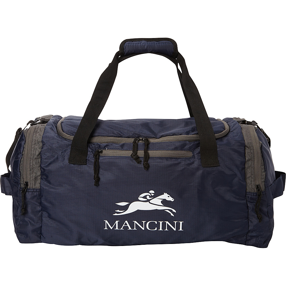Mancini Leather Goods Travel Packable Duffle Bag Navy Blue Mancini Leather Goods All Purpose Duffels