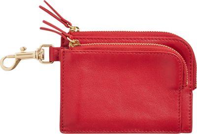 Skagen Double Zip Charm Wallet Red - Skagen Women's Wallets