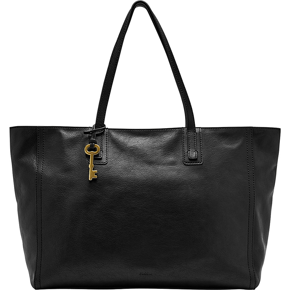 Fossil Emma Work Tote Black - Fossil Leather Handbags - Handbags, Leather Handbags