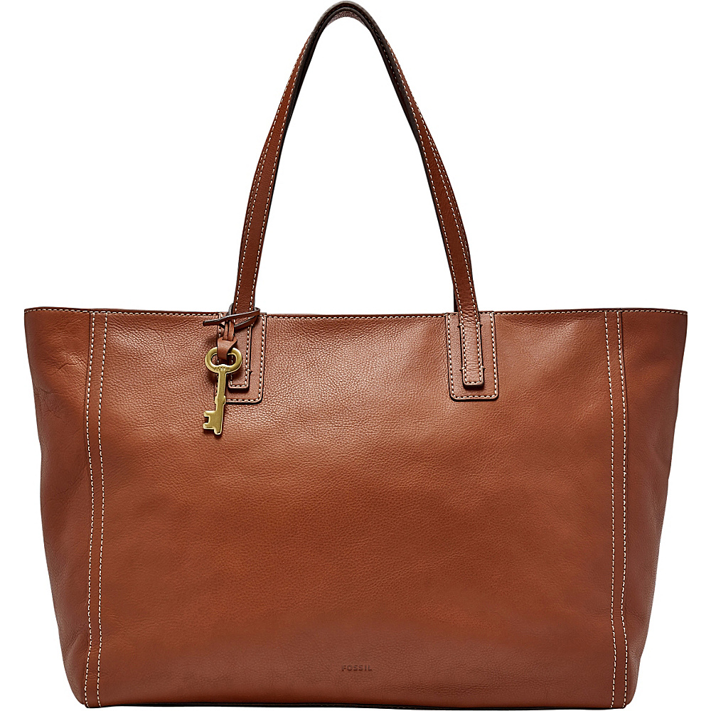 Fossil Emma Work Tote Brown - Fossil Leather Handbags - Handbags, Leather Handbags