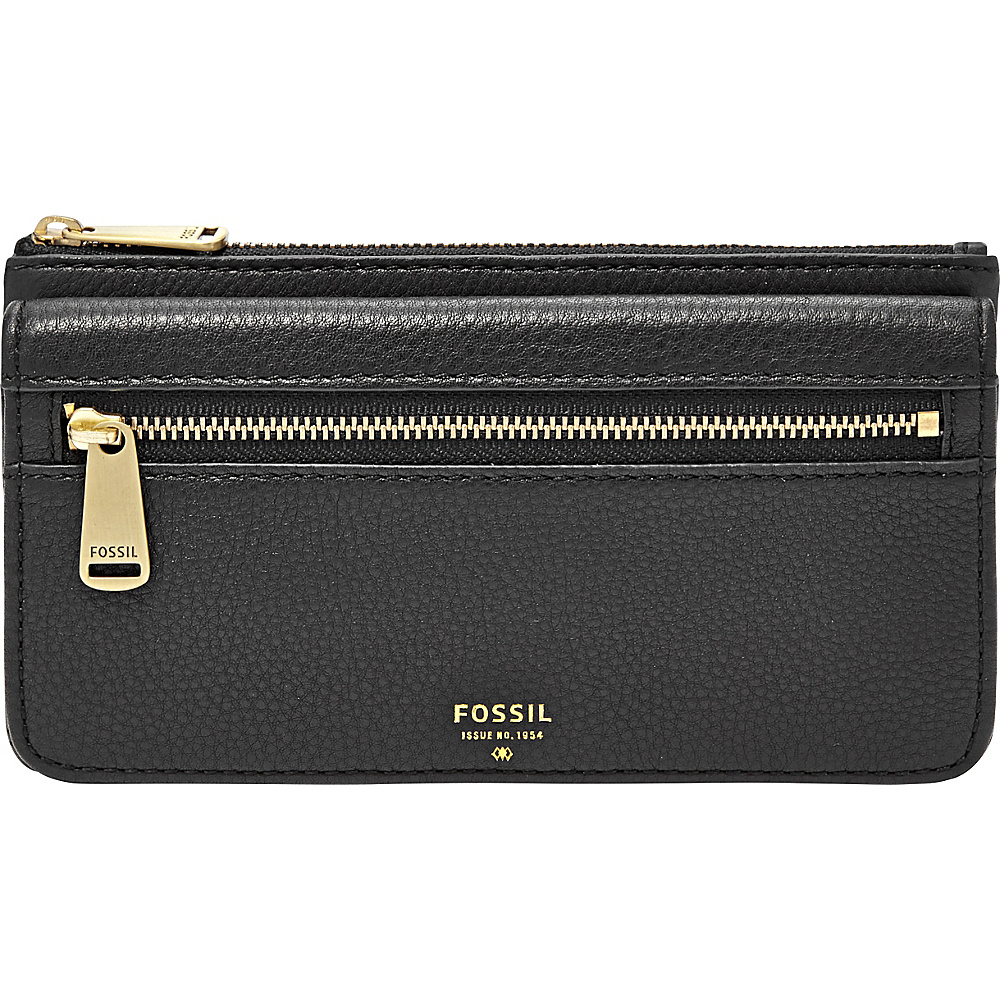 Fossil Preston RFID Tri-Fold Clutch Black - Fossil Womens Wallets - Women's SLG, Women's Wallets
