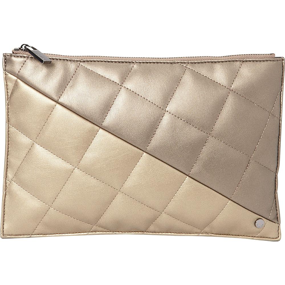 deux lux Billie Pouch Bronze Gold deux lux Manmade Handbags