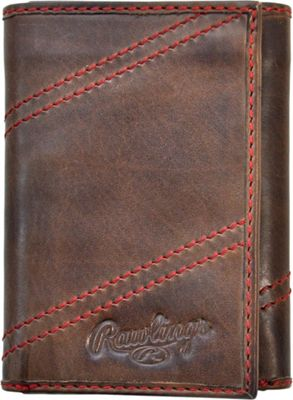 Rawlings Two Strikes Trifold Wallet Glove Brown - Rawlings Men's Wallets