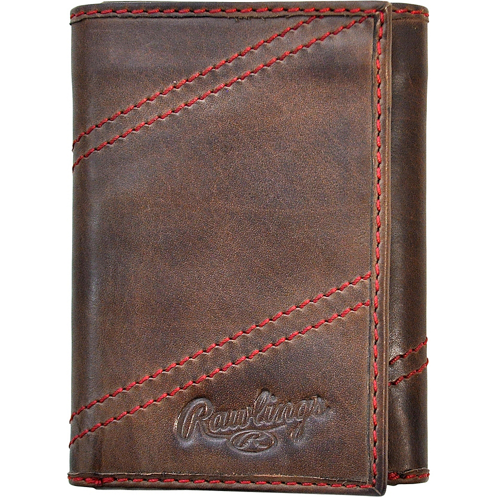 Rawlings Two Strikes Trifold Wallet Glove Brown Rawlings Men s Wallets