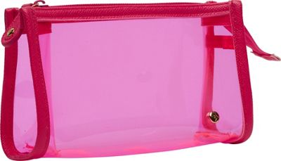 Stephanie Johnson Stephanie Johnson Miami Small Zip Cosmetic Case Pink - Stephanie Johnson Women's SLG Other