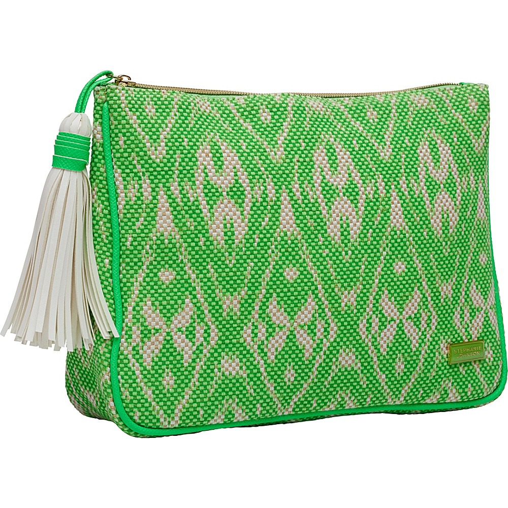 Stephanie Johnson Tamarindo Cassandra Large Zip Top Cosmetic Bag Green Stephanie Johnson Women s SLG Other