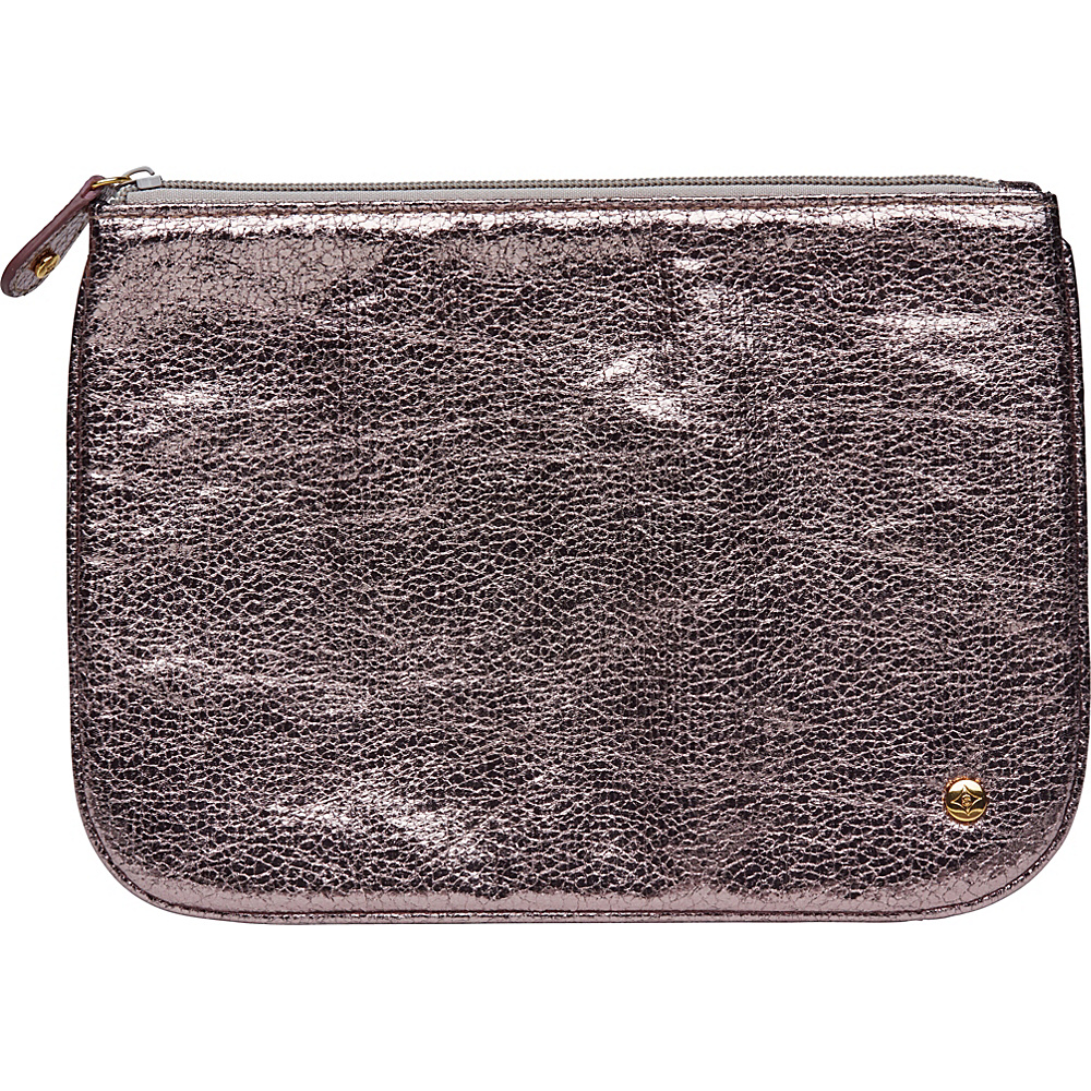 Stephanie Johnson Tinseltown Large Flat Cosmetic Pouch Gunmetal Stephanie Johnson Women s SLG Other