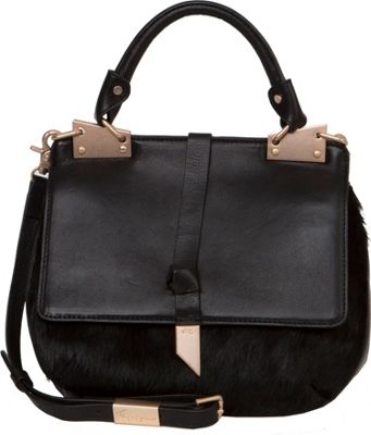 Foley + Corinna Dione Saddle Bag Black - Foley + Corinna Leather Handbags
