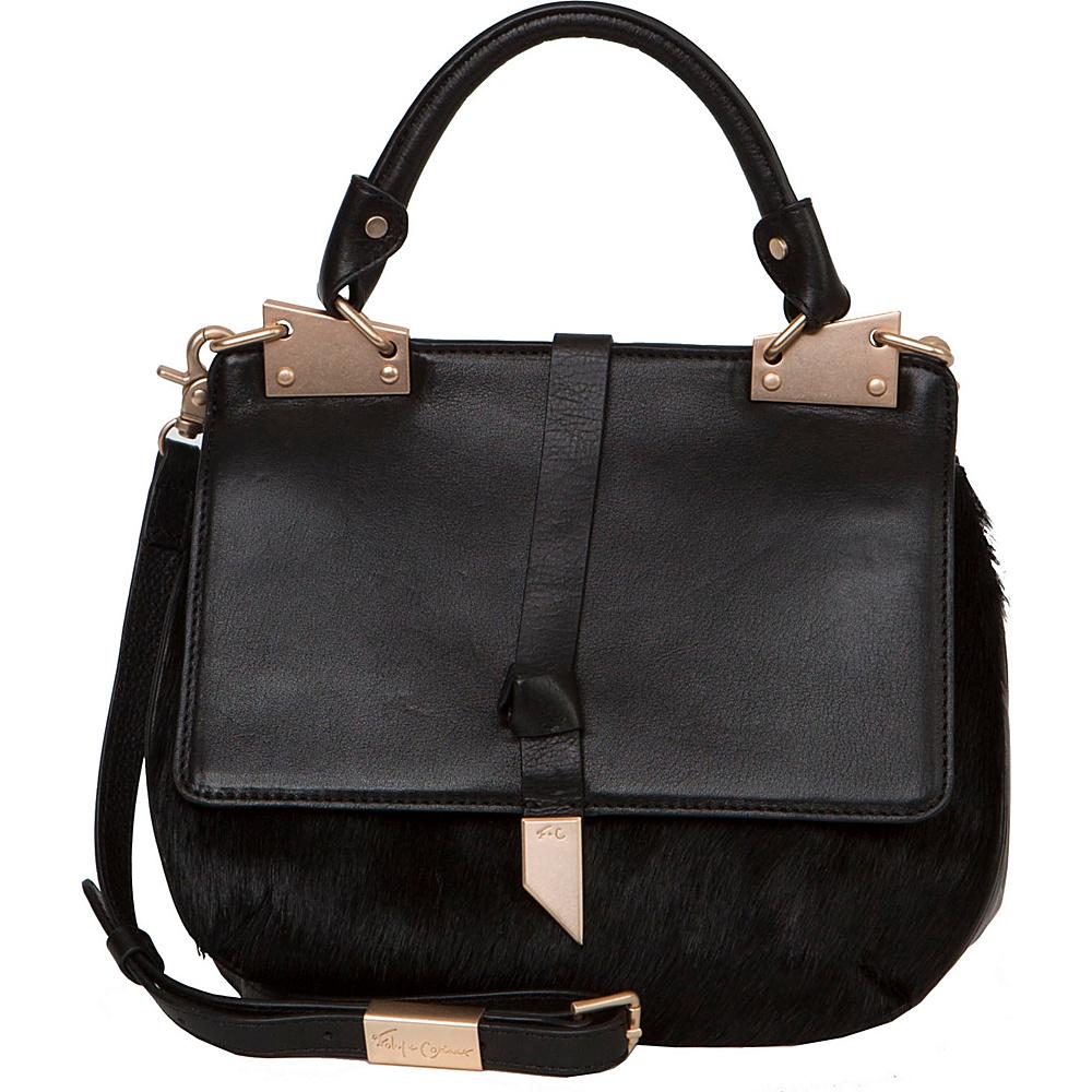 Foley Corinna Dione Saddle Bag Black Foley Corinna Designer Handbags