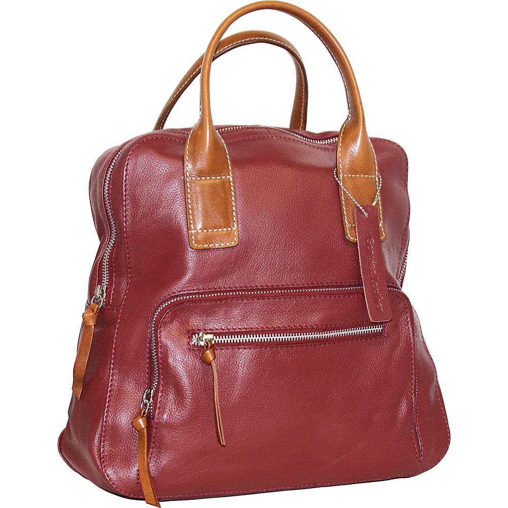 Nino Bossi Lily Petal Backpack Handbag Cabernet - Nino Bossi Leather Handbags - Handbags, Leather Handbags