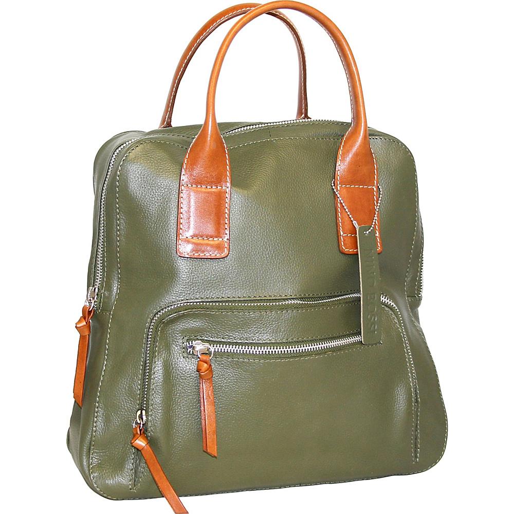Nino Bossi Lily Petal Backpack Handbag Green - Nino Bossi Leather Handbags - Handbags, Leather Handbags