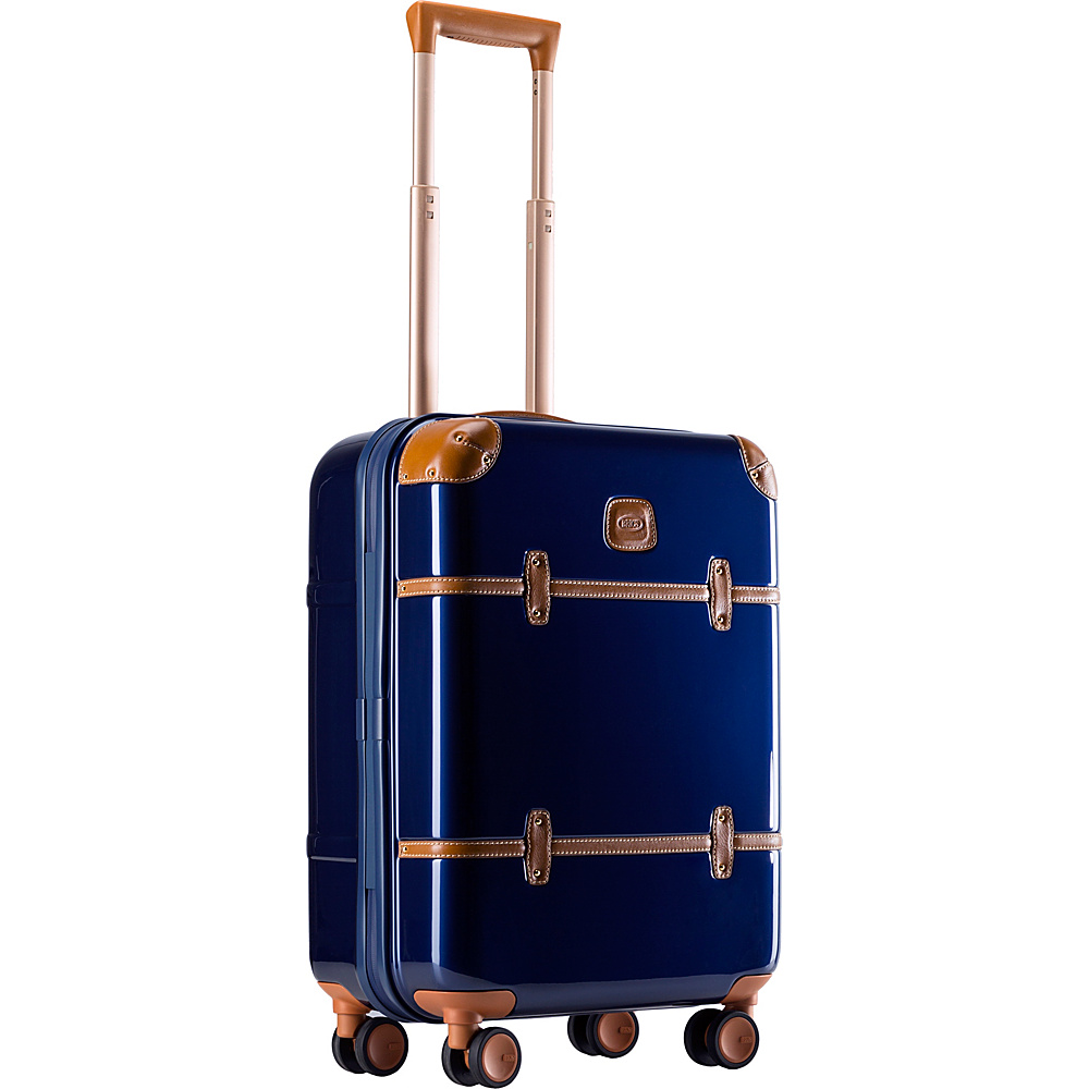 BRIC S Bellagio Metallo 2.0 21 Carry On Spinner Trunk Blue BRIC S Hardside Carry On