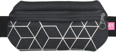 MyTagAlongs Grid Black Waistband Black/Silver - MyTagAlongs Sports Accessories