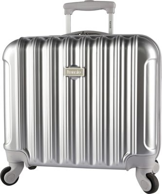 Kensie Luggage 17 inch Light Metallic Rolling Briefcase Silver - Kensie Luggage Wheeled Business Cases