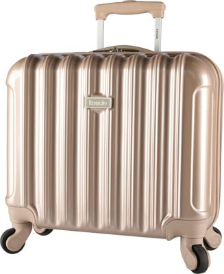 Kensie Luggage 17 inch Light Metallic Rolling Briefcase Pale Gold - Kensie Luggage Wheeled Business Cases