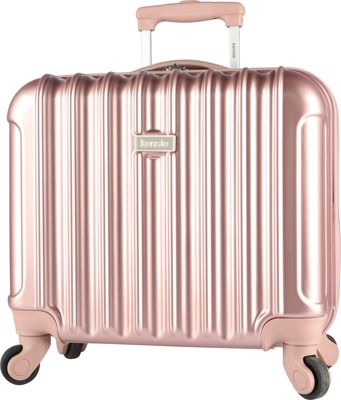 Kensie Luggage 17 inch Light Metallic Rolling Briefcase Rose Gold - Kensie Luggage Wheeled Business Cases