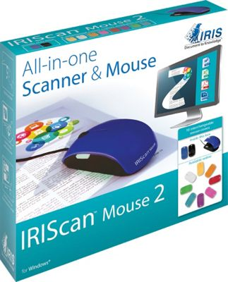 I.R.I.S. IRIScan Mouse 2 Scanner & Mouse Blue - I.R.I.S. Electronic Accessories