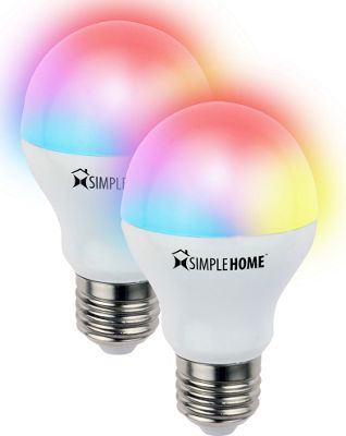 Simple Home Simple Home 2PK Multicolor Smart LED Bulb Multicolor - Simple Home Smart Home Automation