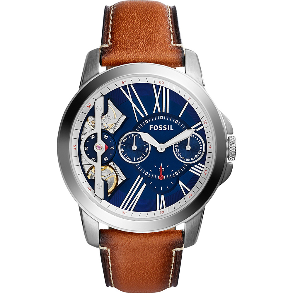 Fossil Grant Twist Three-Hand Leather Watch Brown - Fossil Watches - Fashion Accessories, Watches