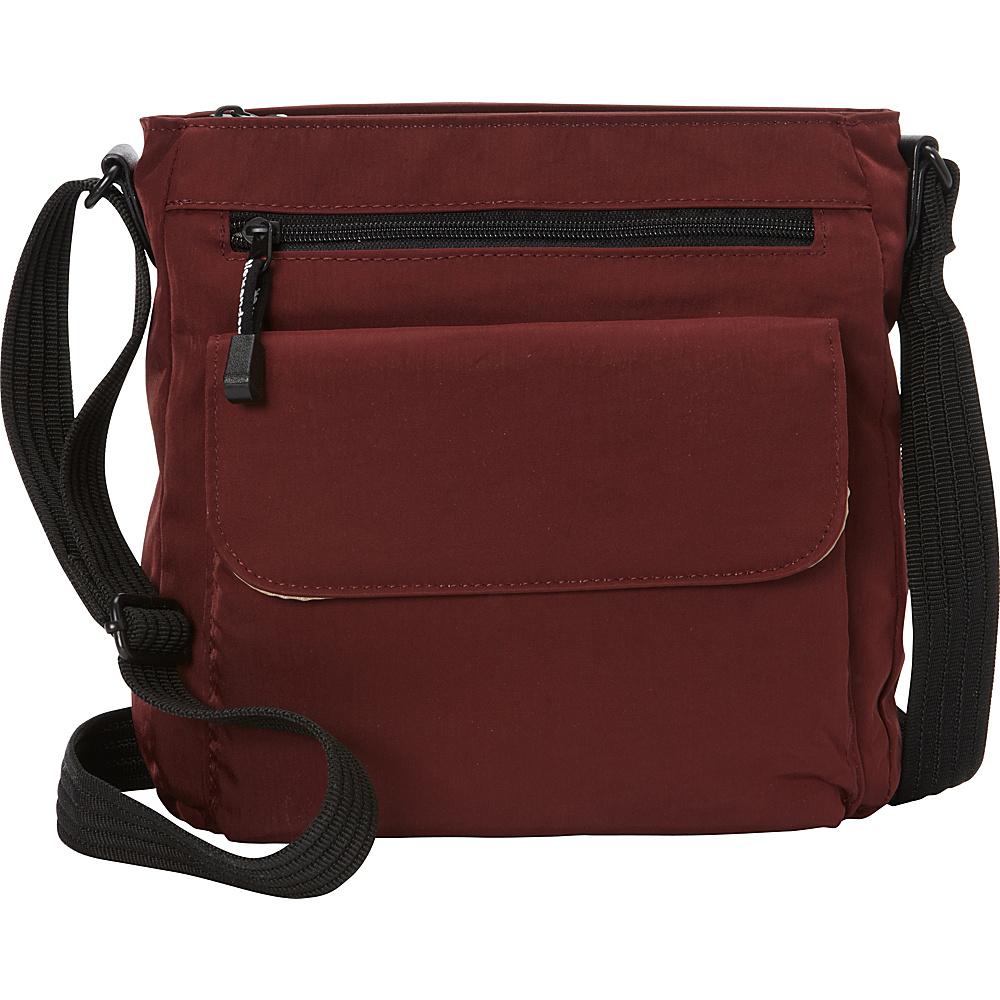 Derek Alexander NS Top Zip  Convertible Crossbody BURG - Derek Alexander Fabric Handbags - Handbags, Fabric Handbags