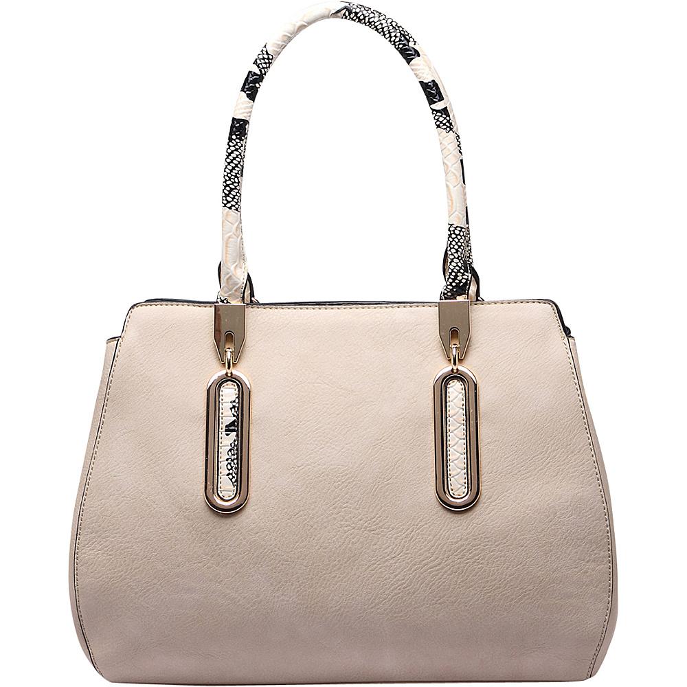 MKF Collection by Mia K. Farrow London Satchel Handbag Beige - MKF Collection by Mia K. Farrow Manmade Handbags - Handbags, Manmade Handbags
