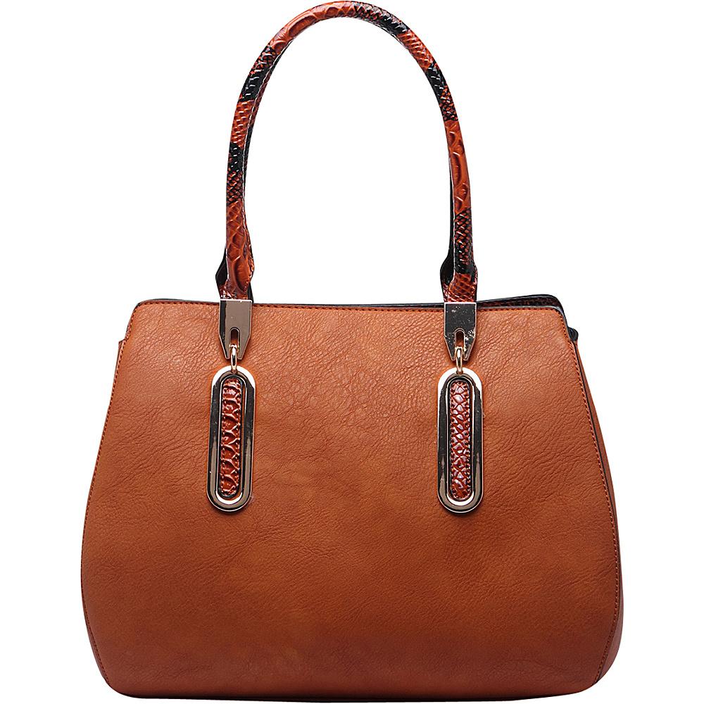 MKF Collection by Mia K. Farrow London Satchel Handbag Brown - MKF Collection by Mia K. Farrow Manmade Handbags - Handbags, Manmade Handbags