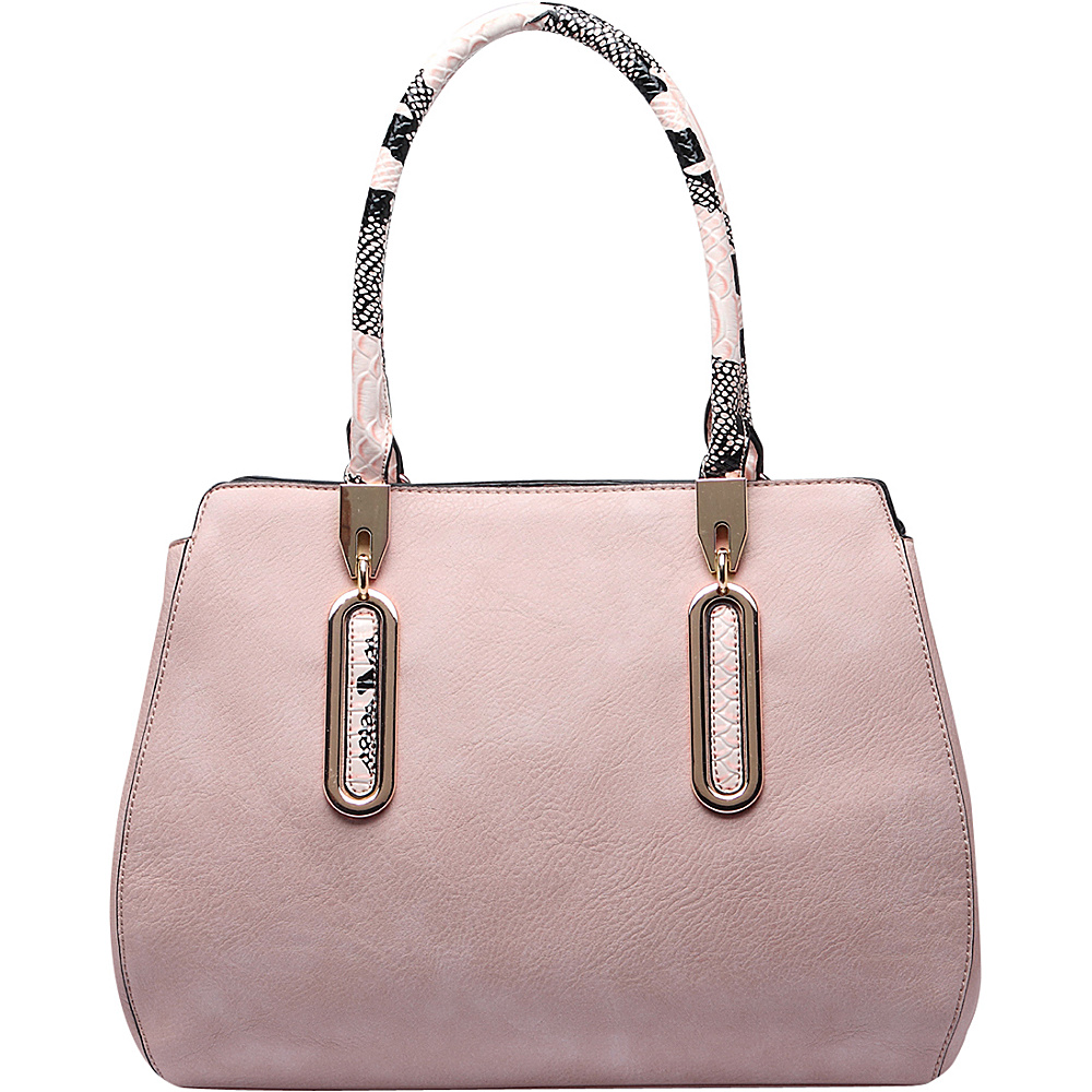 MKF Collection London Satchel Handbag Pink - MKF Collection Manmade Handbags - Handbags, Manmade Handbags