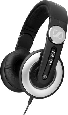 Sennheiser HD205II Studio Grade DJ Wired Headphones Black - Sennheiser Headphones & Speakers