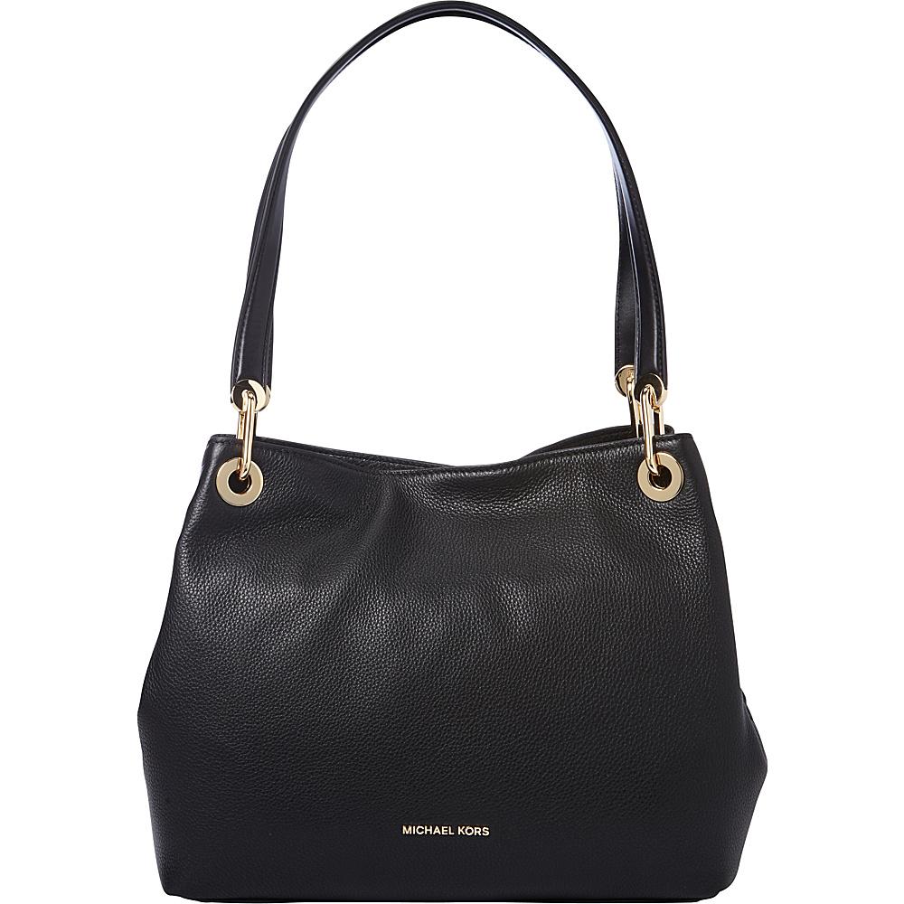 MICHAEL Michael Kors Raven Large Shoulder Tote Black MICHAEL Michael Kors Designer Handbags