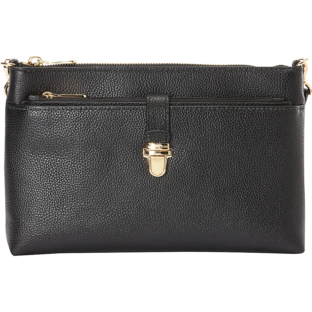 MICHAEL Michael Kors Mercer Large Snap Pocket Crossbody Black MICHAEL Michael Kors Designer Handbags