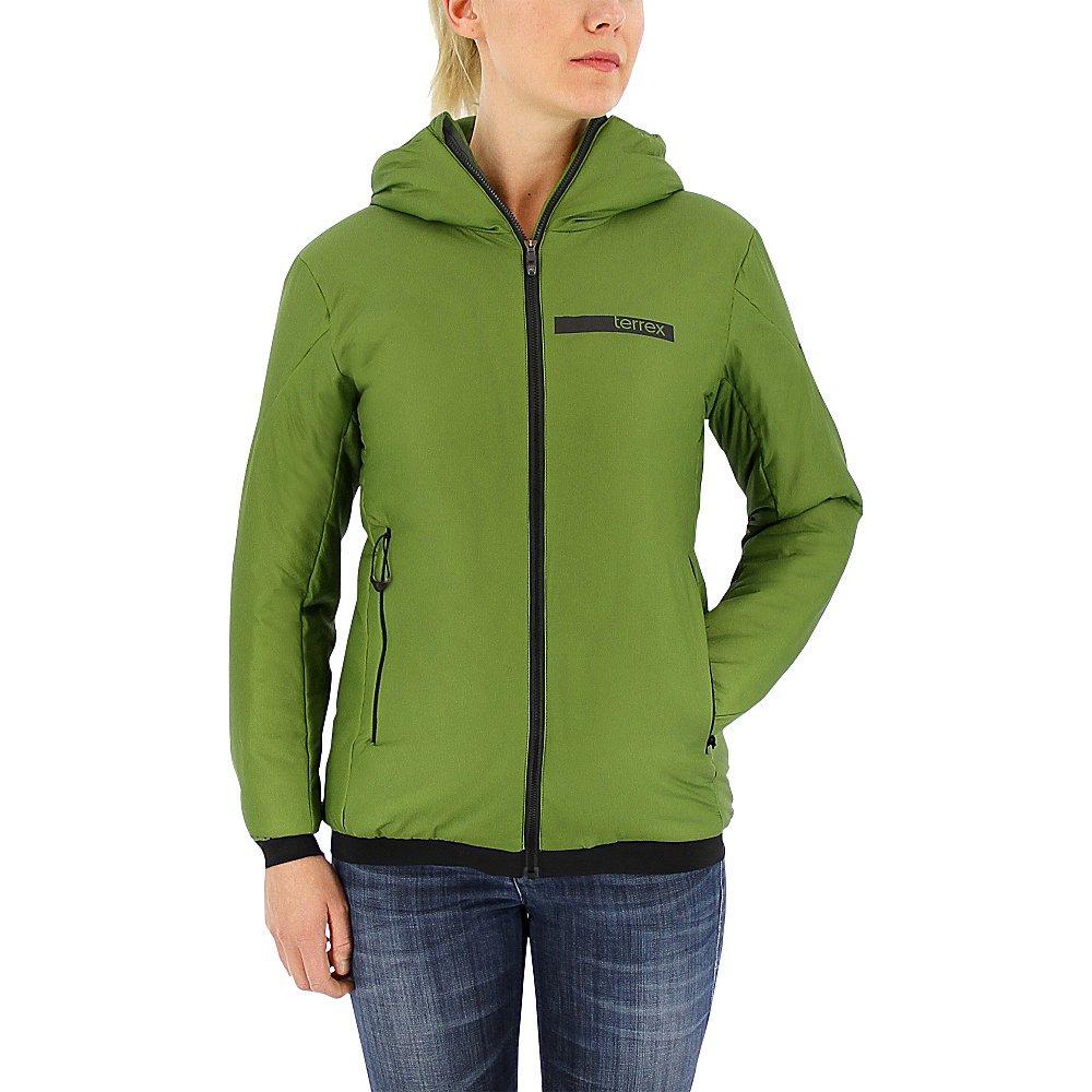 adidas apparel Womens Terrex Ndosphere Flex Hooded Jacket II S Craft Green adidas apparel Men s Apparel